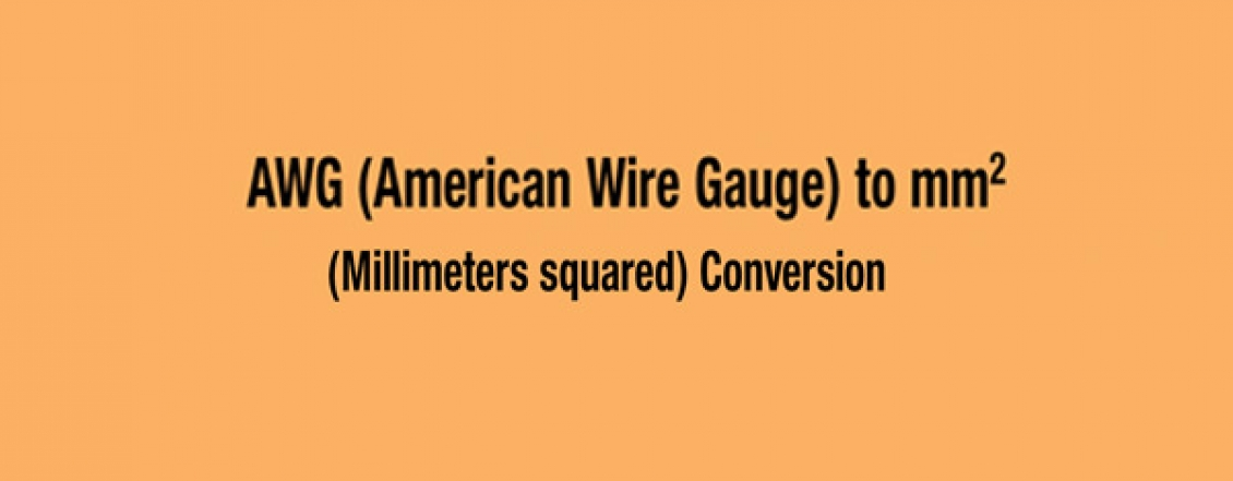 AWG (American Wire Gauge) Jauge de filetage en mm2  conversion